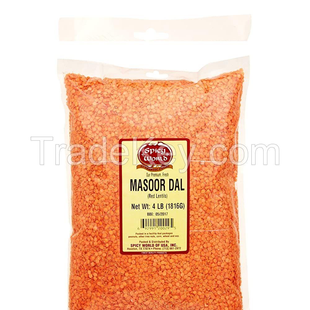 Red lentil. Mung Dal, Mansoor Dal Green Lentils and brown Lentils