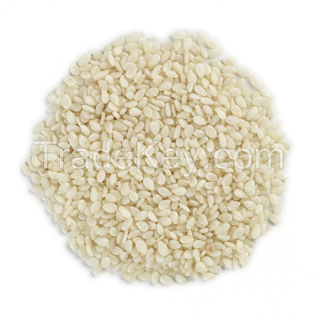 Sesame seed, Hulled, Unhulled white and black sesame seeds