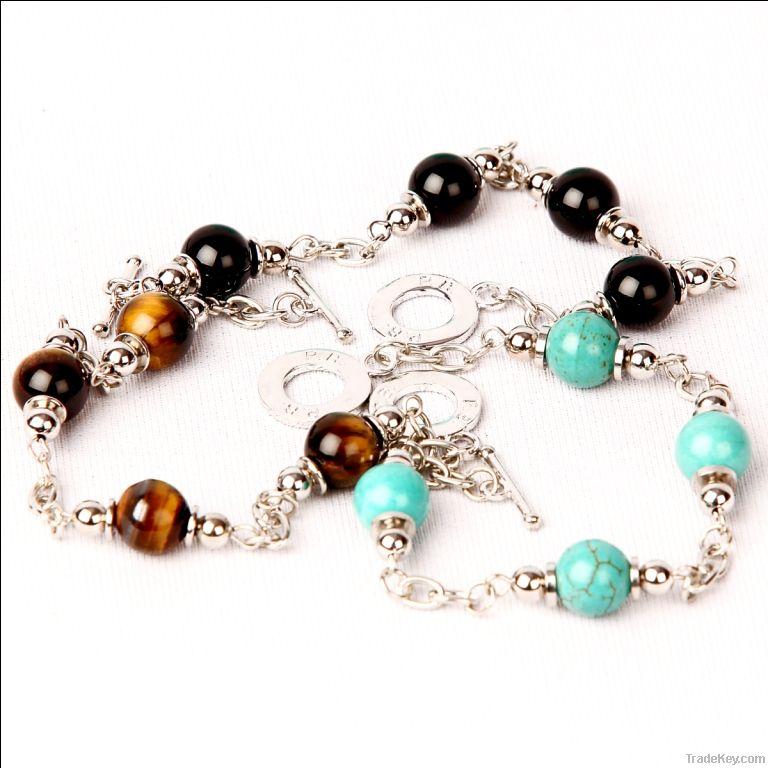 Carnelian heart charm bracelet