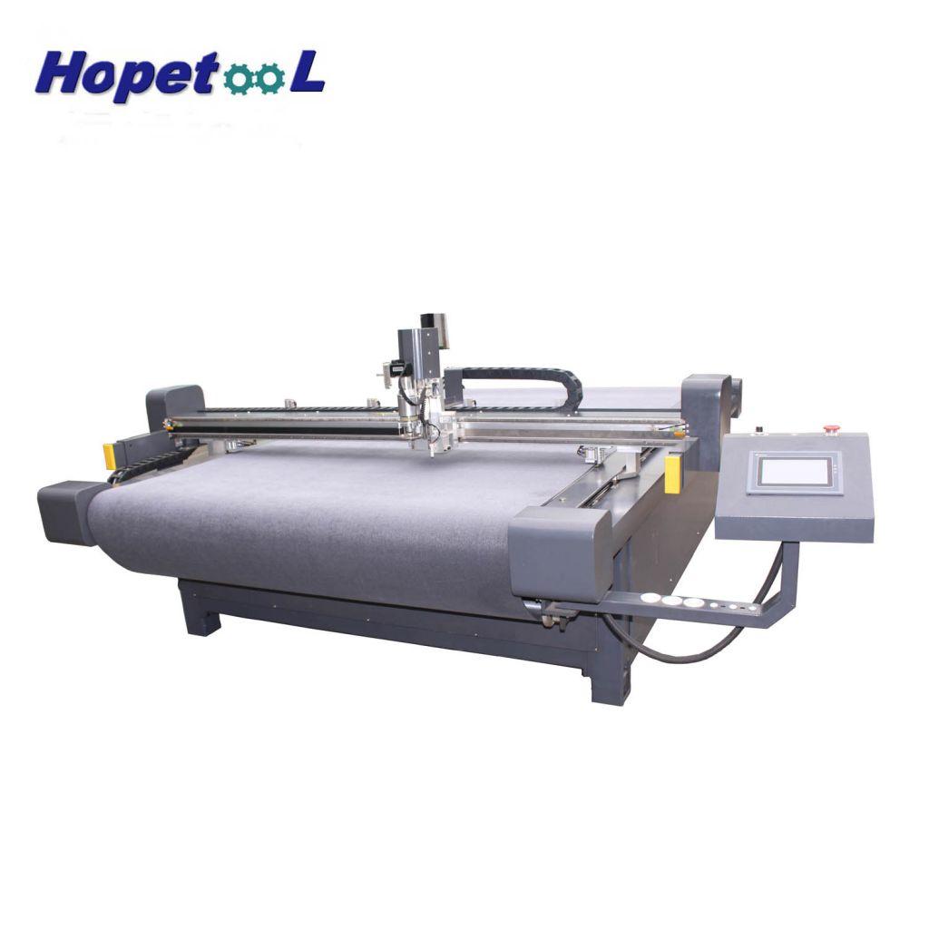 foma lather cardboard CNC oscillating  knife cutting machine