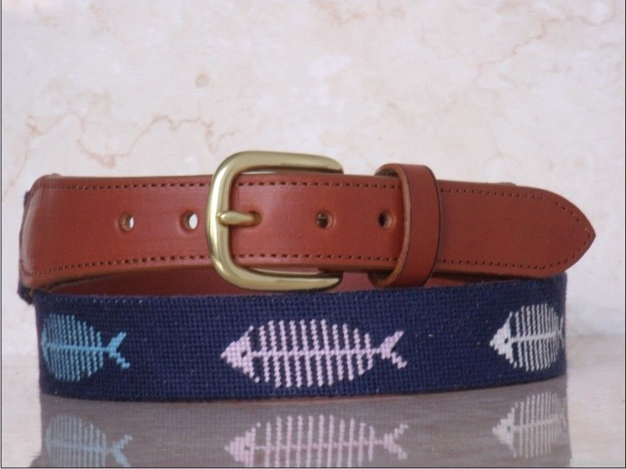 Personalized Needlepoint Leather Belts For Women