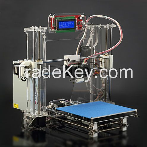 3D Printer Reprap I3 Kit ABS/PLA Rapid Prototype Machine With LCD, FDM(SC-6605S)
