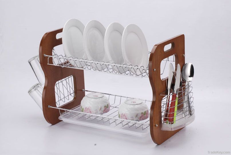 2012 new style square dish rack/drainer, plate rack/holder, kitchen rack