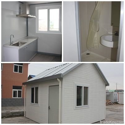 low-cost and simple design living prefab house