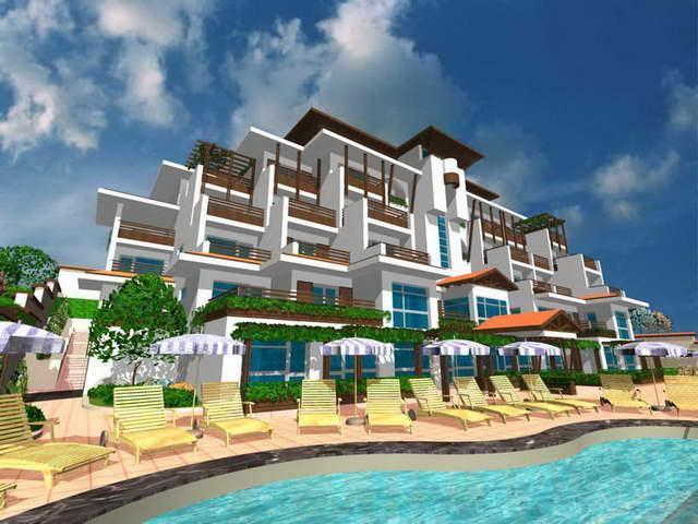 Luxury Hotel Complex Near Sea Coast