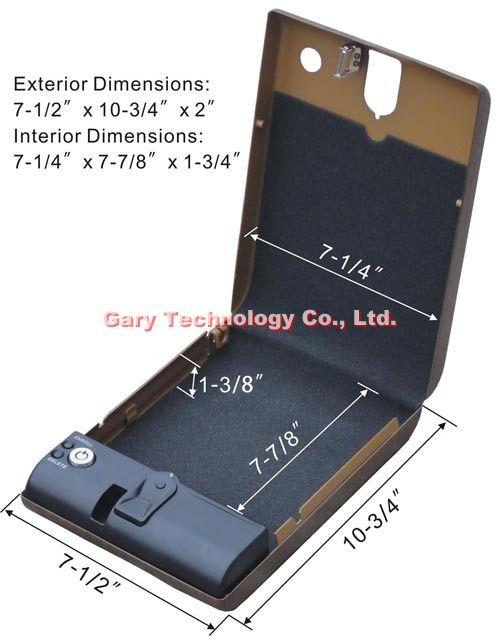 MS100 Jewelry Portable Fingerprint Biometric Mini safe box / Case