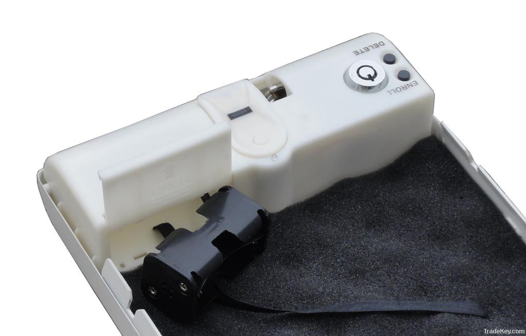 MS100W Handhold Fingerprint Biometric Mini Medical Safe Box / Case