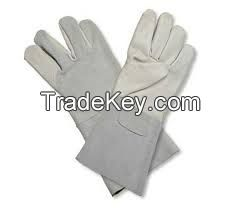 Heavy Duty Leather Palm Welding Glove Industrial Leather Hand
