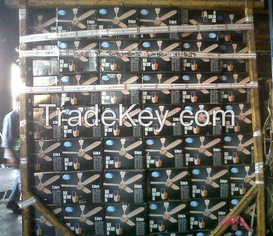 12 Volt solar ceiling fan