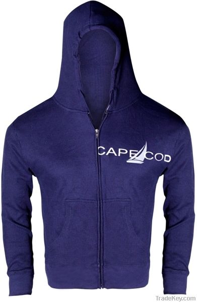 Navy Blue Zipper Hood