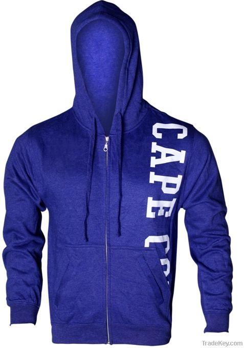 blue Zipper Hood