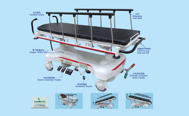 RS111-B-A Luxurious Electric Rise-and-Fall Stretcher Cart