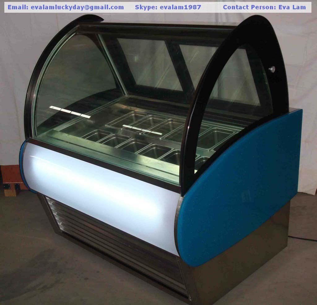 Gelato/Ice Cream Display Showcase