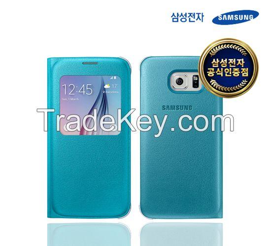 SAMSUNG Galaxy S6 S-View Flip Cover (PU)