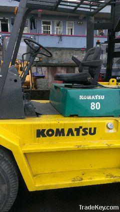 Used original Komatsu 8t forklift with high quality