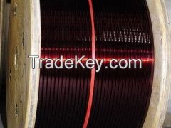 rectangular flat  enamelled copper  wire