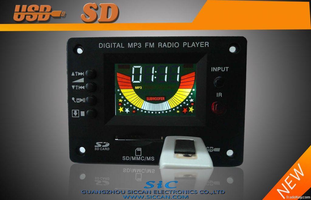Digital mp3 FM Radio player module