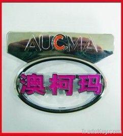 ABS car label, brand car label, custom car emblem, logo label