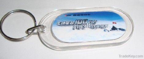 acrylic keychain , plastic keychain.promotional keyring