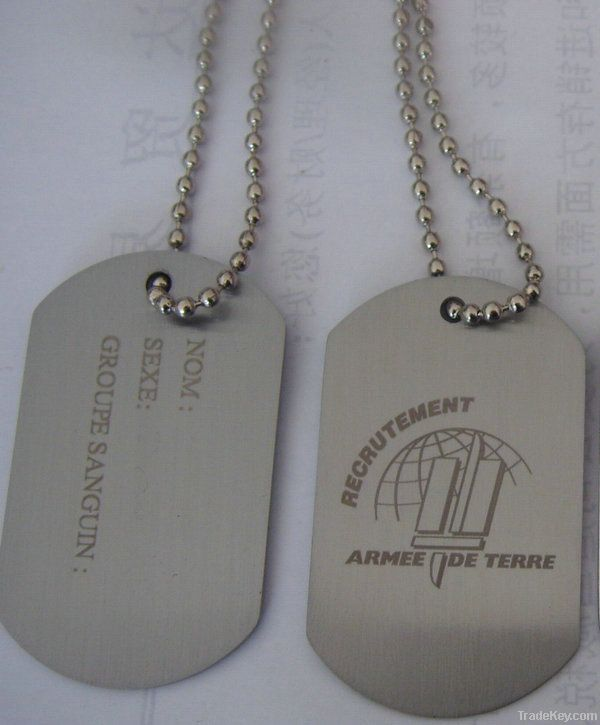 dog tag , pet tag , metal tag , army tag