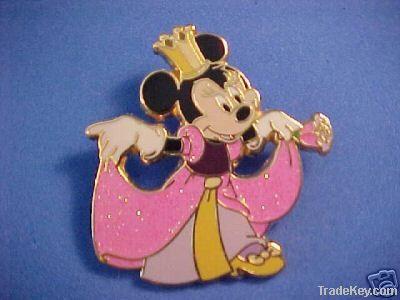 Disney pin , plated pin , irregular pin, pin badge , pin label