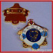 3-D soft badge/label, flashing pin/badge , label pin badge