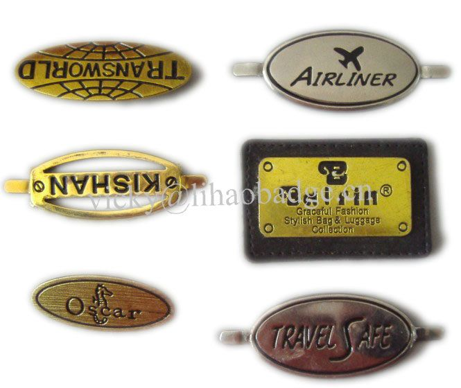 metal luggage label luggage tag luggage nameplate