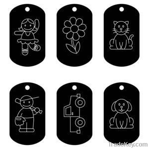 brass dog tag, tag, metal tag, army dog tag
