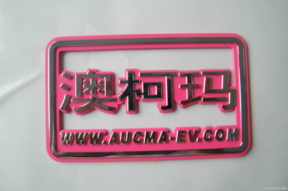 Custom ABS Chrome plated car badge, car emblem, car sticker