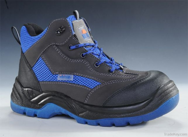 PU injection steel toe safety shoes