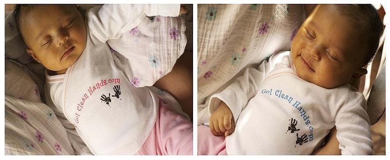 Got clean hands Newborn shirts