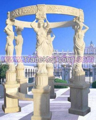marble Gazebo, marble carving, carving, stone gazebo