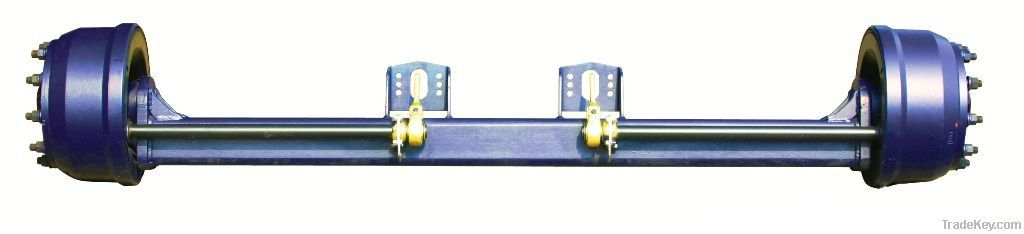 American type axle for industrial trailers