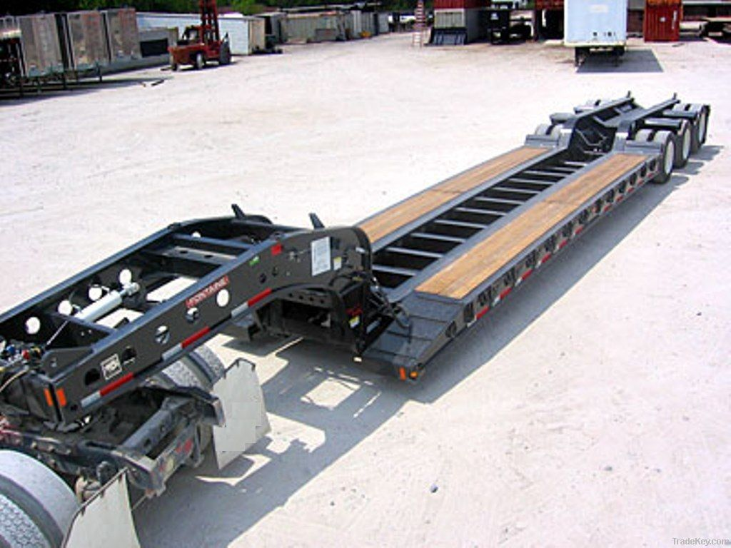 lowbed semi trailer Industrial Vehicle frieght carrier