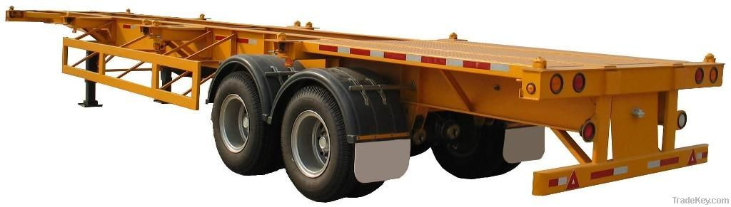 skeleton semi trailer for industial use