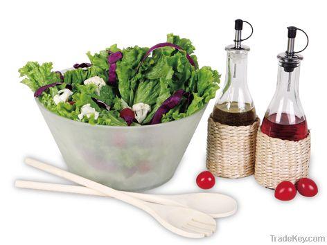 5pcs Glass Salad set