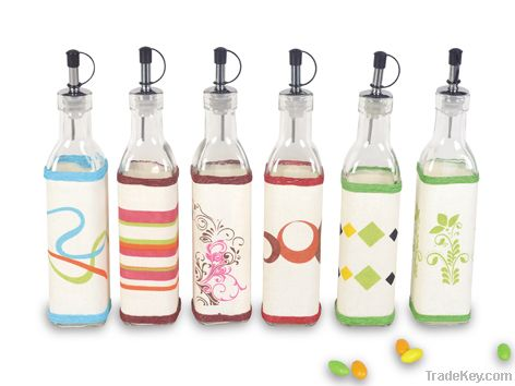 2 pcs oil & vinegar bottle set