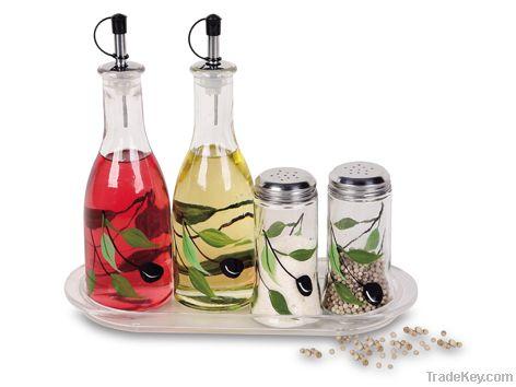5 pcs glass spice set