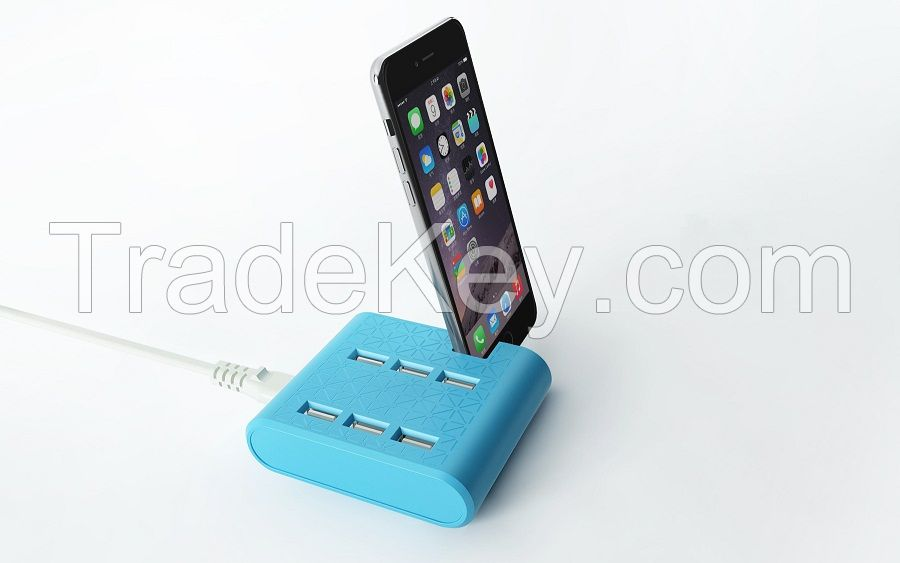 Multi Port USB charger with stand