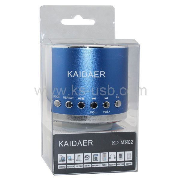 KD-MN02 Round Shape Kaidaer mini Speakers with TF card and USB speaker