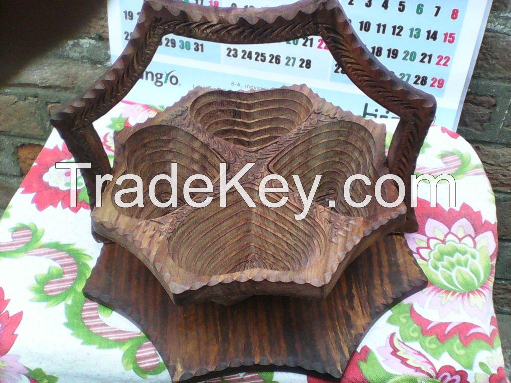 Wooden Dry Fruit Folding Basket