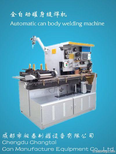 Automatic aerosol/food/beverage/tin can body welding machine