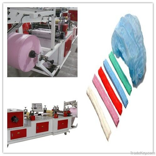 medical disposable bouffant cap/hair cover making machine