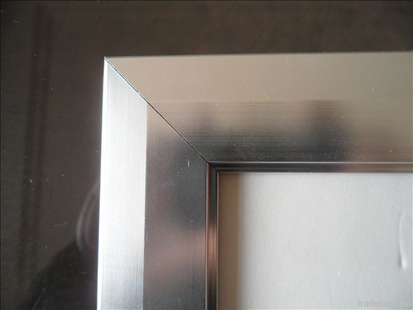 25mm polished silver snap frame