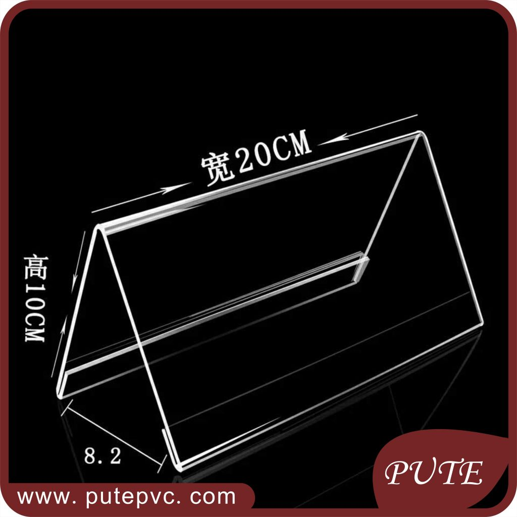 Custom V shape acrylic tent card holder reserved table sign business ...