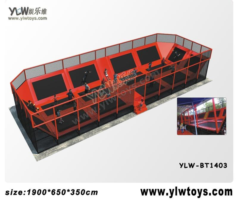 fitness sport trampoline, amusement trampoline park indoor trampoline park with basket and pool, combination jumping trampoline
