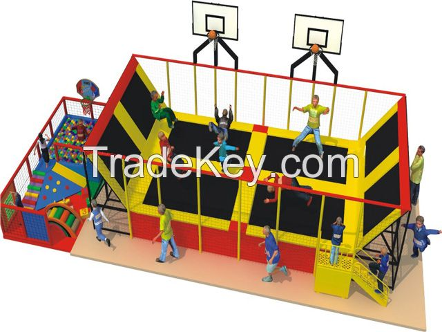 fitness sport trampoline, indoor trampoline jumping bed, amusement trampoline park, large trampoline center