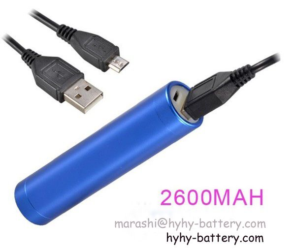 Hot sale lipstick-sized portable power bank external mobile charger powre supply