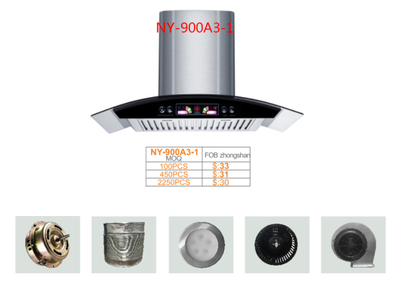Durable class chimney/range hood with durable stainless steel filter, super silence, cooker hood