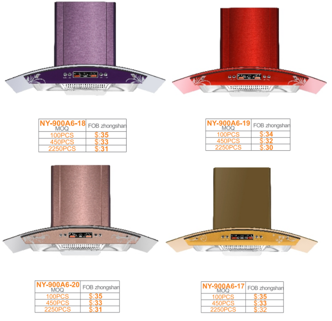 Promotion models, Kitchen electric chimney, copper range hood, Iraq, Lybia, Iran
